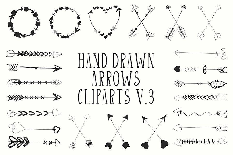 30+ Handdrawn Arrows Clipart Ver. 3