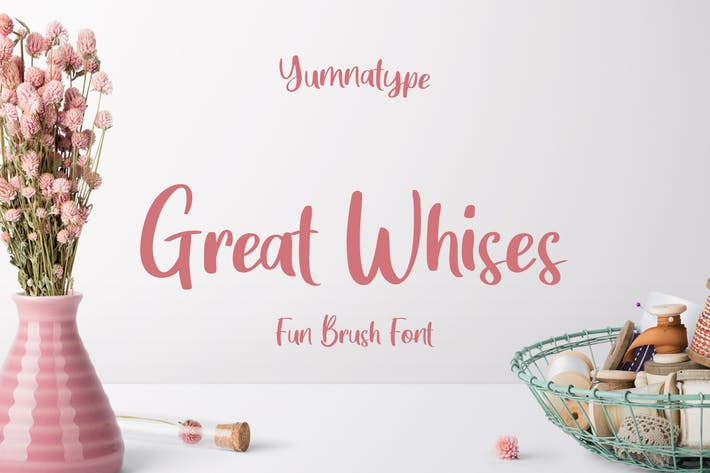 Thumbnail for Great Wishes - Display Font