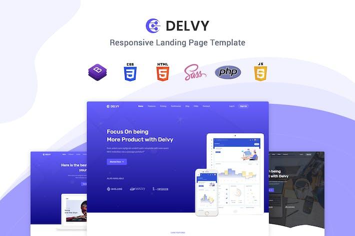 Delvy - Modèle de page de destination Responsive