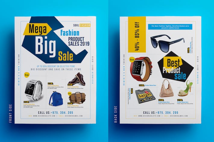 fashion product sale flyer magazine ad by designsoul14 on envato