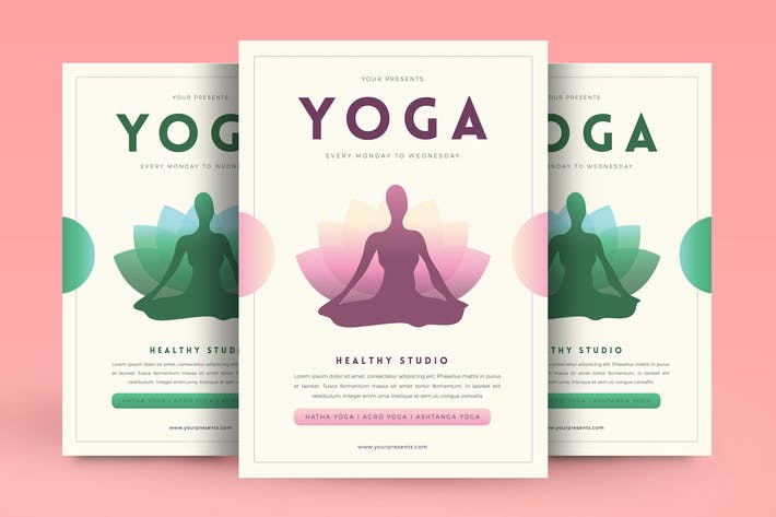 Yoga flyer by Guuver on Envato Elements