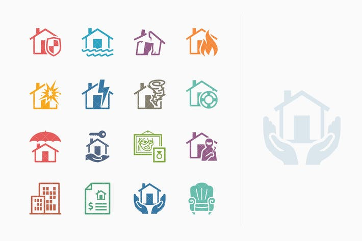 Thumbnail for Home Insurance Icons - Colored Series