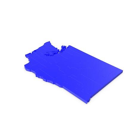 Вашингтон графств Карта