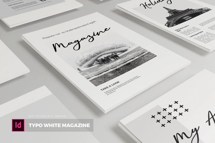 Cover Image For Typo White | Magazine Template