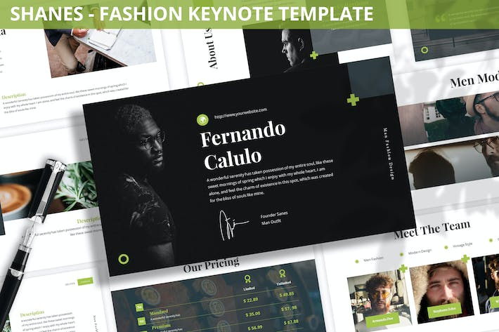 Thumbnail for Shanes - Fashion Keynote Template