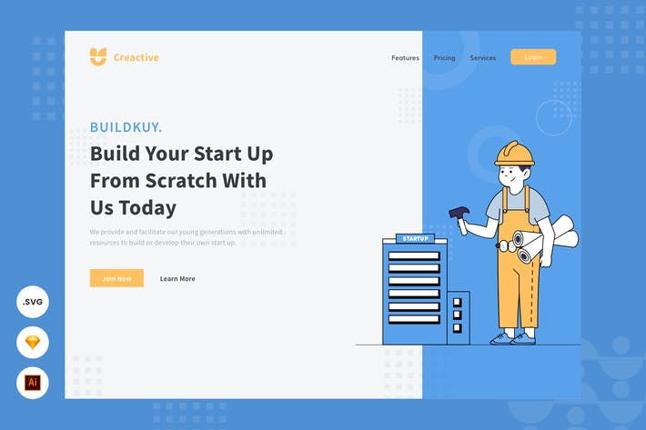 Thumbnail for Building a Start Up - Website Header Illustration