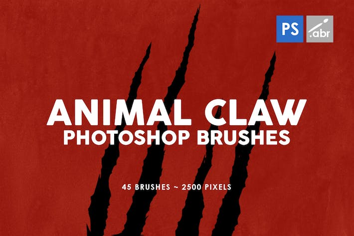 Cover Image For 45 Animal Claw Photoshop Stamp Brushes