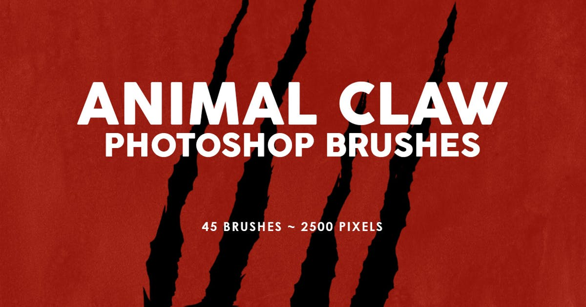 Download 45 Animal Claw Photoshop Stamp Brushes by M-e-f