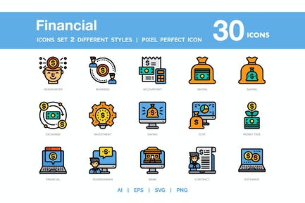 Financial Icon Pack