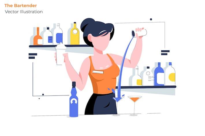 Thumbnail for The Bartender - Vector Illustration