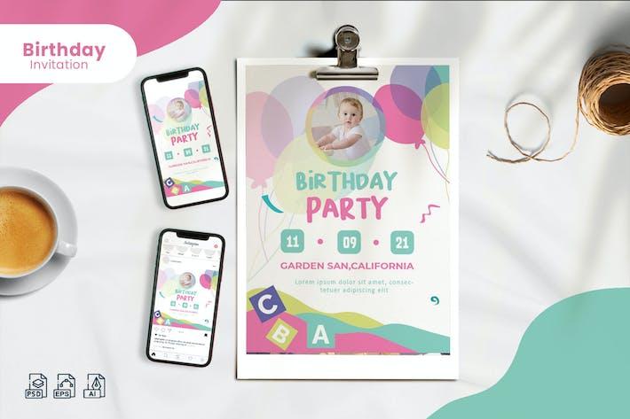 Thumbnail for Birthday Invitation - Print & Social Media
