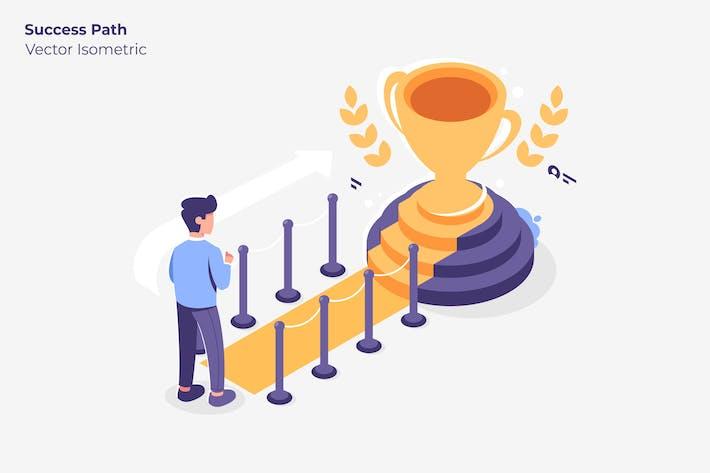 Success Path - Vector Illustration
