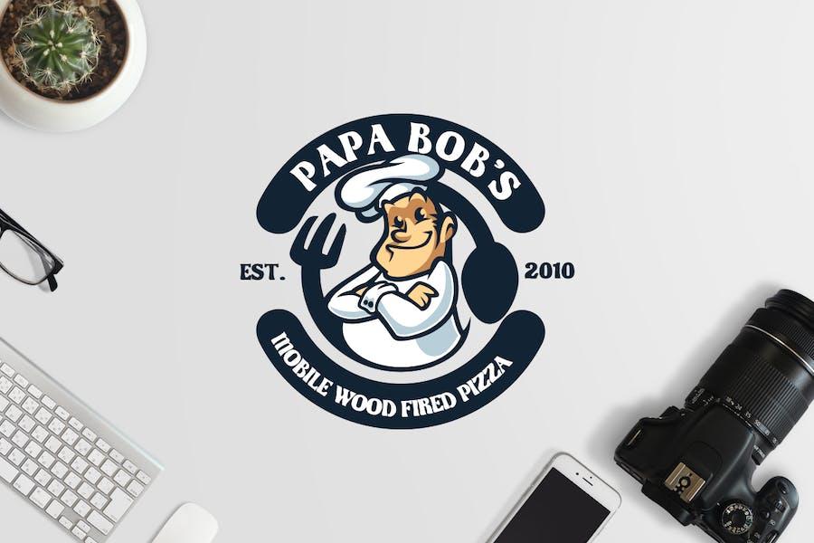 Professional Chef Mascot Logo