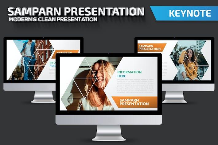 Thumbnail for Samparn Keynote Presentation Template