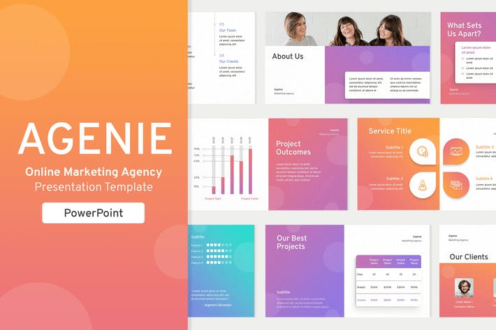 Thumbnail for Online Marketing Agency PowerPoint Template