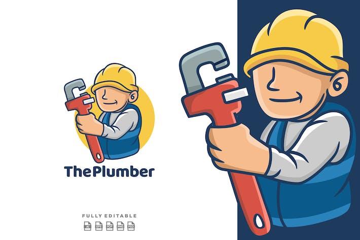 Thumbnail for Repair Plumber Mascot Logo Cartoon