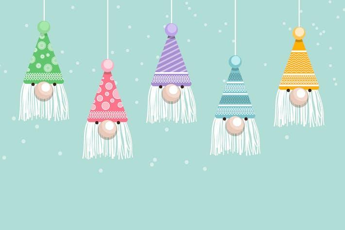 Thumbnail for Christmas Santa Face Hat Decoration