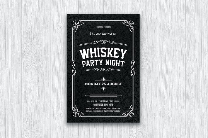 Thumbnail for Whiskey Party / Typography Flyer