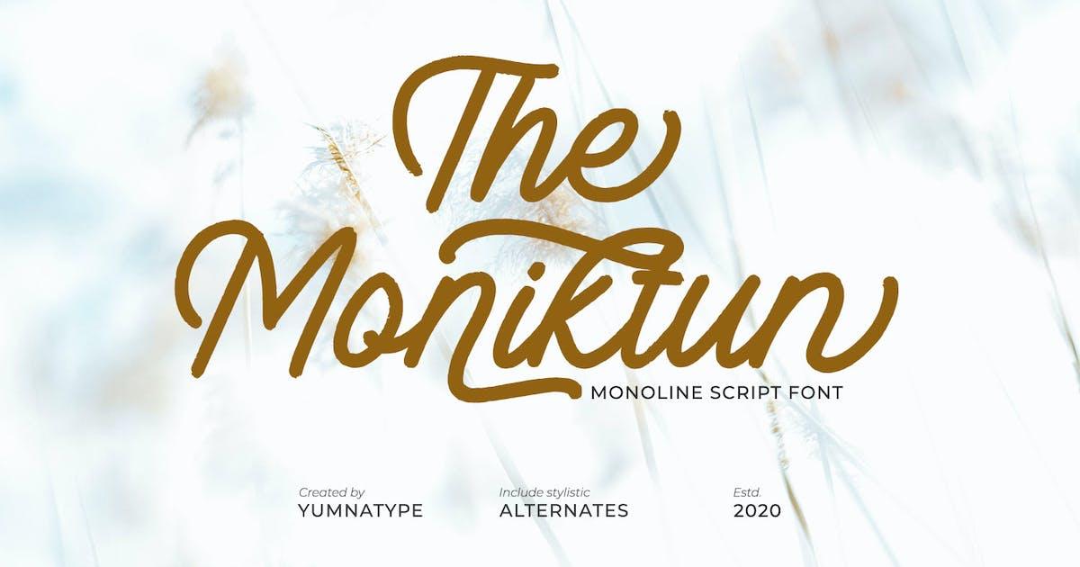 Download The Moniktun-Monoline Script Font by YumnaStudio