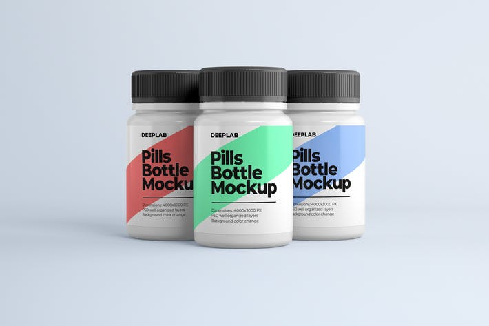 Thumbnail for Medical Pill Bottle Mockup
