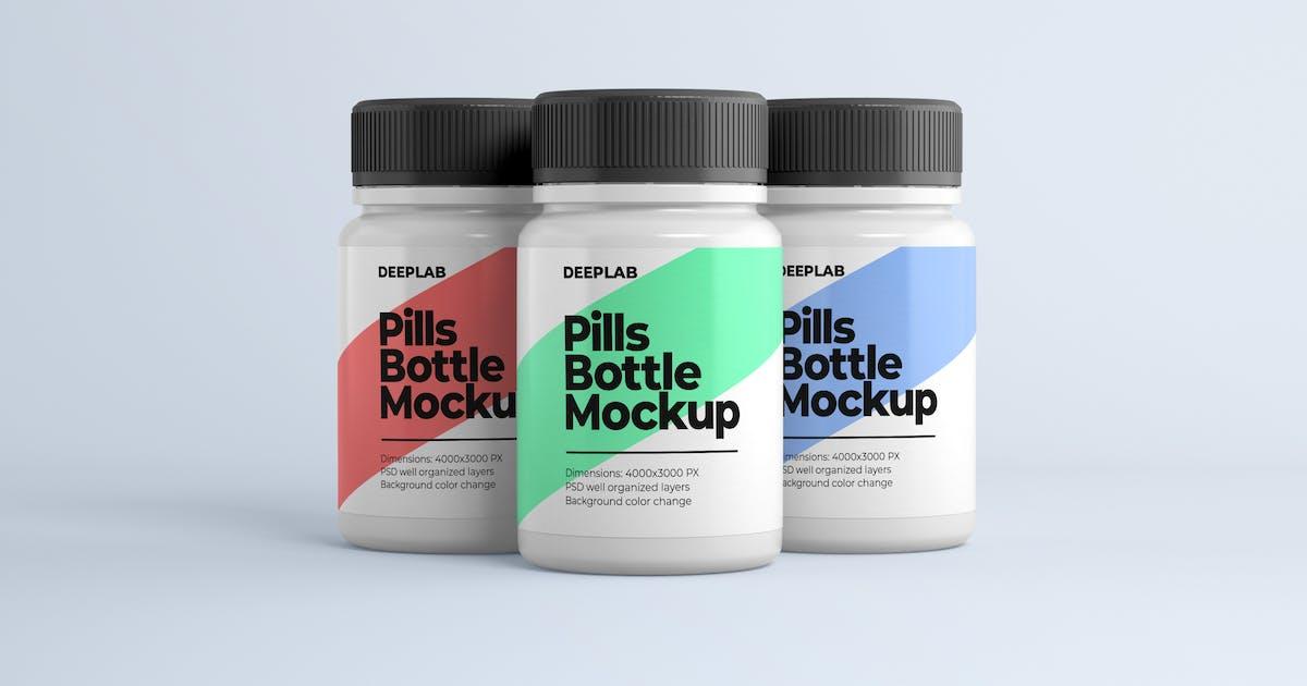 Download Medical Pill Bottle Mockup by deeplabstudio