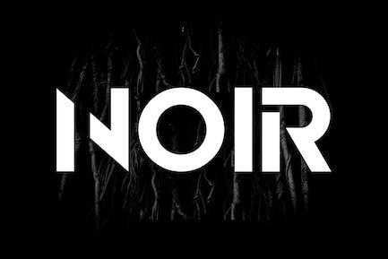 NOIR - Pantalla única y moderna/Tipo de letra del Logo