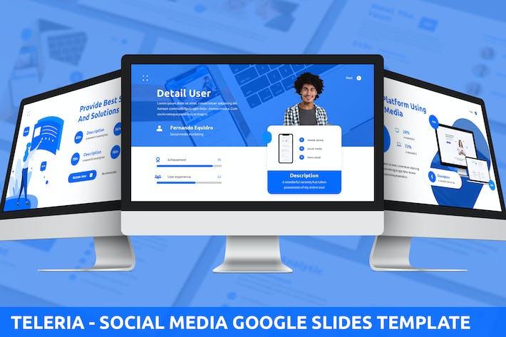 Thumbnail for Teleria - Social Media Google Slides Template