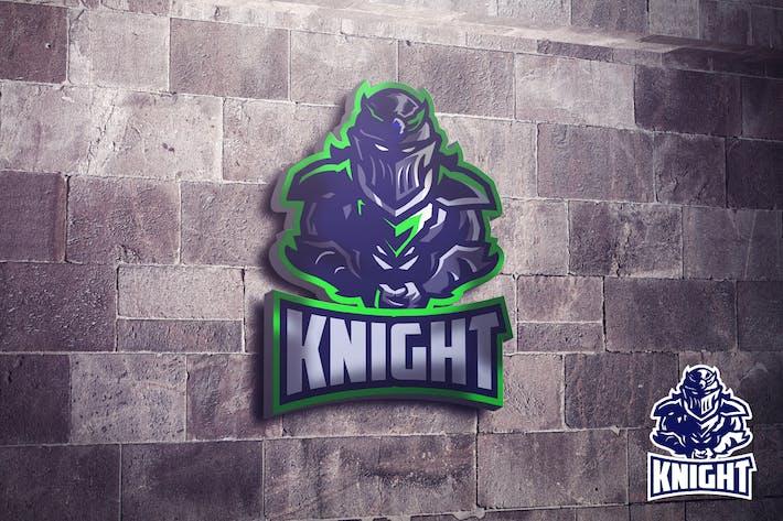 Thumbnail for Dark Knight Mascot Esports Logo