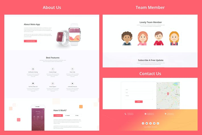 Thumbnail for Moto – Multipurpose Landing Page Template