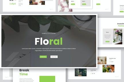 Florist Google Slides  Presentation Template