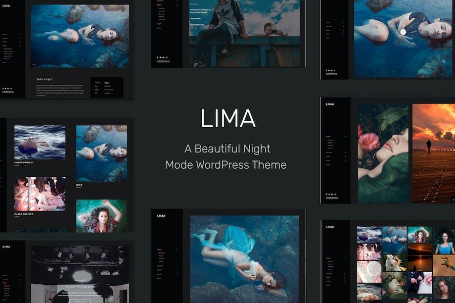 Lima - Night Mode WordPress Theme for Elementor