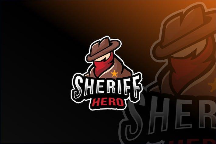 Thumbnail for Plantillas de logotipos de Sheriff Hero Esport