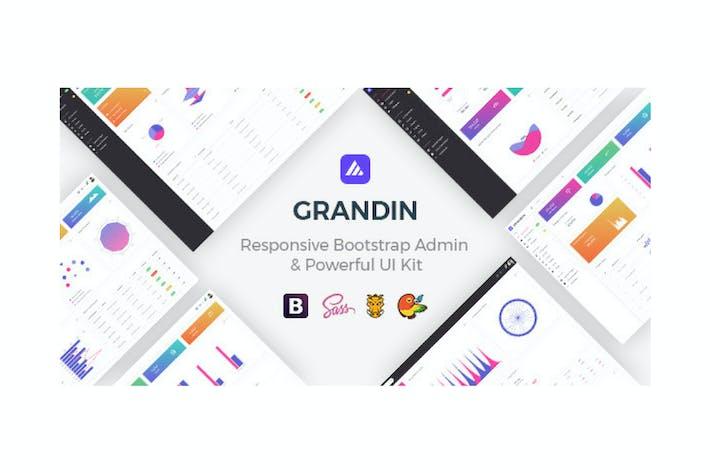 Thumbnail for Grandin - Responsive Bootstrap Admin