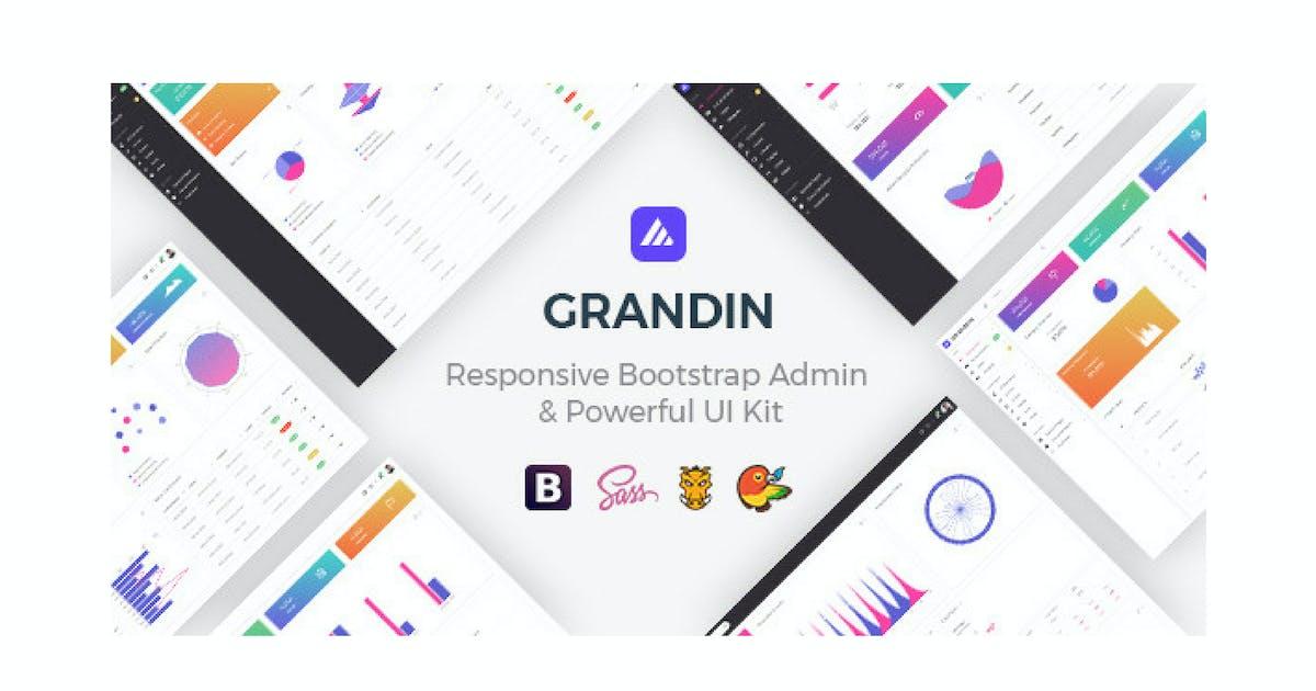 Download Grandin - Responsive Bootstrap Admin by Hencework
