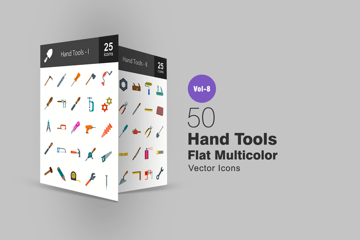 Thumbnail for Hand Tools Flat Multicolor Icons
