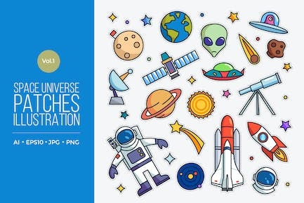 Space Universe Vector Patches Vol.1