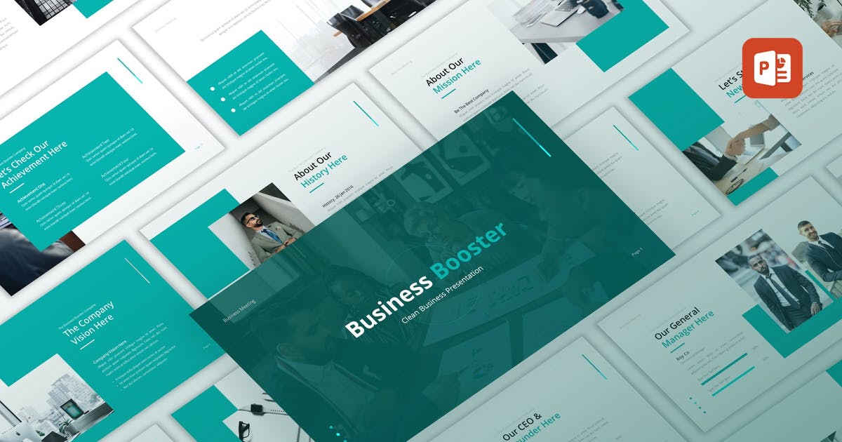 Download Business Booster - Clean PowerPoint Template by CocoTemplates