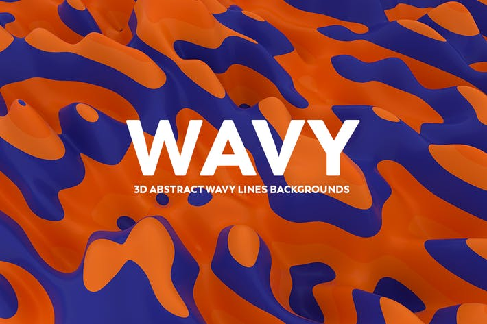 Thumbnail for 3D Abstract Wavy Lines Backgrounds