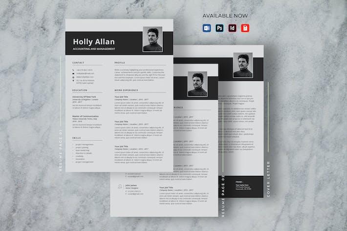 Minimalist CV Resume Word Docx
