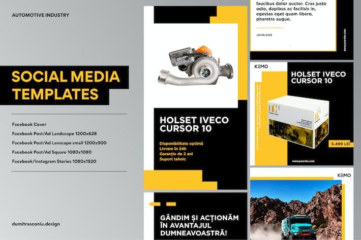 Thumbnail for Automotive Social Media Pack