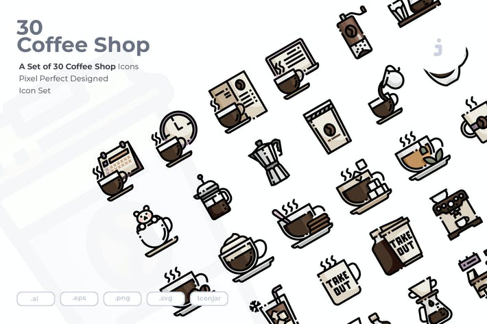 Thumbnail for 30 Coffee-Shop Icons