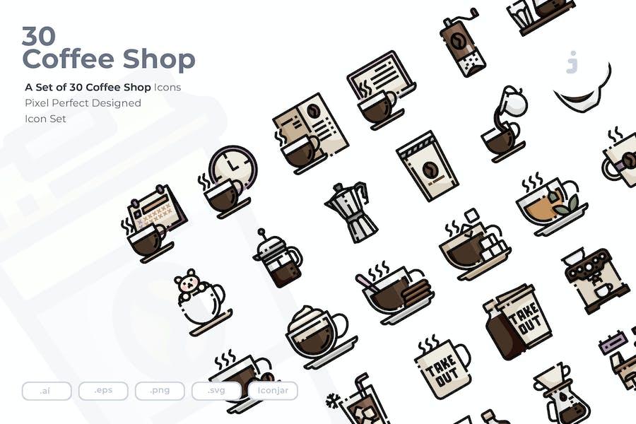 30 Coffee Shop Icons