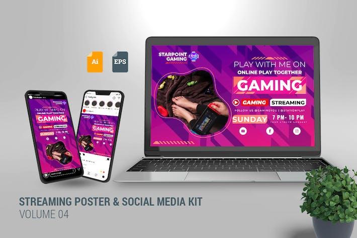 Streaming Poster & Social Media Kit Vol. 04