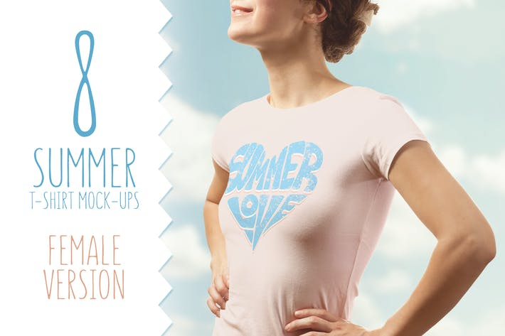 Thumbnail for Summer T-shirt Mock-up Female Version
