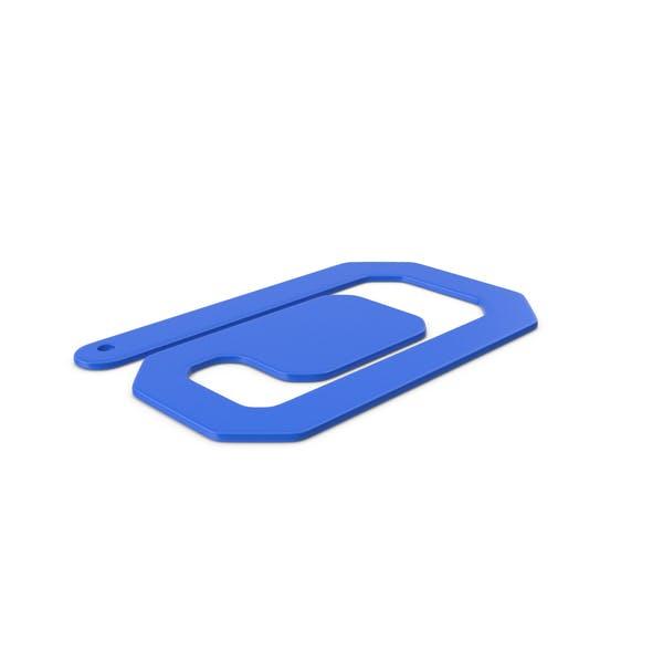 Пластиковые скрепки Синий