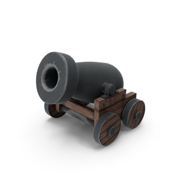 Cartoon Old Pirate's Cannon