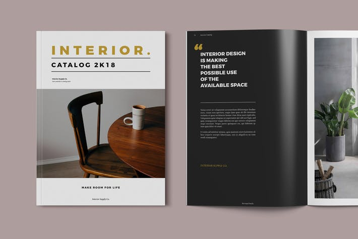 Cover Image For Interior - Furniture Catalog Brochure Template