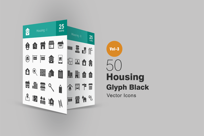 Thumbnail for 50 Housing Glyph Icons