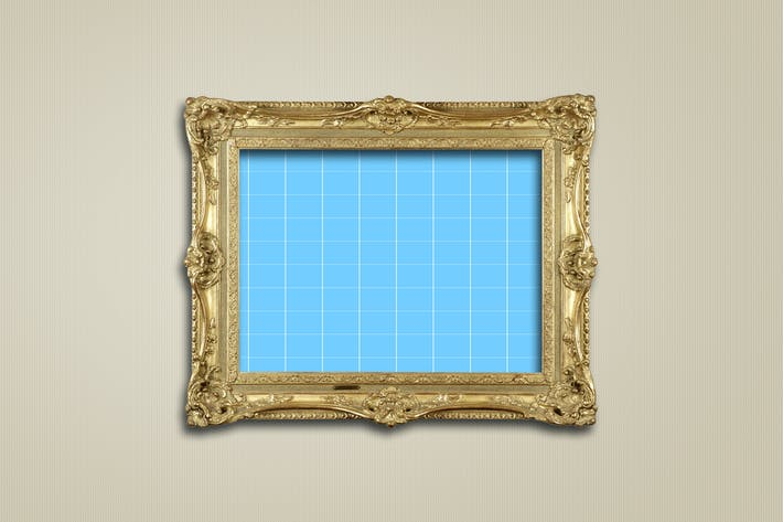 Thumbnail for Antique Golden Frame Mockup 01