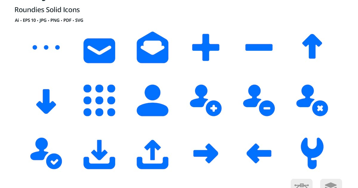 Download Utility Roundies Solid Glyph Icons by roundicons